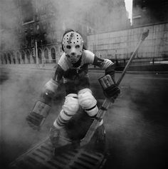 Arthur Tress - Hockey Player, New York (1970)