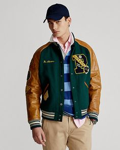 Ralph Lauren Style, Polo Ralph Lauren, Bomber Jacket, My Style, Street Fashion, Ivy, Sleeves, How To Wear, Jackets