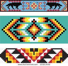 Native American Beading Patterns | Traditional (Native) American Indian Pattern, Vector – 103213052 …