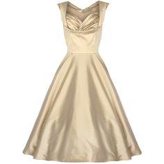 OPHELIA champagne - společenské šaty ve zlatavé barvě z 50.let Vintage  Bridesmaid Dresses 2c1bfd0187