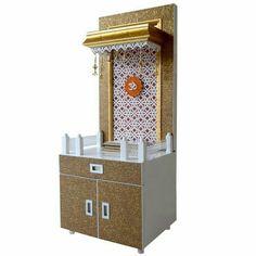 Wooden Pooja Mandir 4 FT Height With Exclusive Storage Wooden Almirah, Almirah Designs, Pooja Room Door Design, Design Bedroom, Storage Cabinet With Drawers, Temple Design For Home, Mandir Design, Bunk Beds With Storage, Pooja Mandir