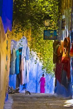 Casa Hassan, at the entrance. Chaouen,  Maroc.