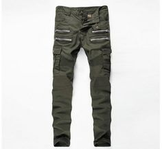 Want skull tops, hoodies, leggings and more Men tide Beggar p... add to any wardrobe http://rebelstreetclothing.com/products/men-tide-beggar-punk-pants-ripped-zipper-design-pants-night-club-slim-biker-sweatpants-army-green-patchwork-pencil-pants