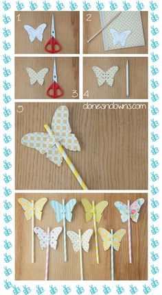 DIY Butterfly straws and flowers | Clones N Clowns by Aimee WoodClones N Clowns by Aimee Wood