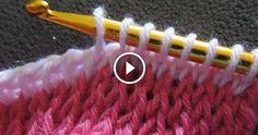 Punto tunisino sia ad uncinetto sia a maglia. Questo tutorial è davvero molto d'aiuto per chi vuole imparare a lavorare con questo punto sia per