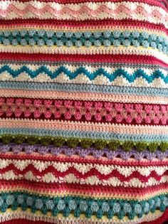 mixed stripey blanket sample--just a pic for inspiration