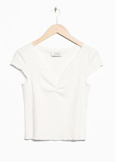 & Other Stories image 1 of Lettuce Edge Top in White