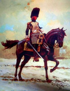 A French officer of the Imperial Grenadiers a Cheval- by Keith Rocco