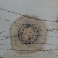 Alice Fox - paper, tea, rust print, collagraph print