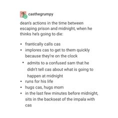 supernatural tumblr textpost destiel funny lol season 12 episode 9 first blood dean winchester castiel cas sam winchester