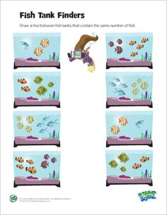 LeapFrog printable: Fish Tank Finders