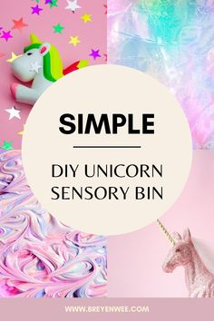 A simple DIY Unicorn sensory bin made from dyed rice. This is quick to make and your kids will have so much fun scooping, measuring and using thier imaginations. Kid Games, Games For Kids, Sensory Bins, Sensory Play, Easy Arts And Crafts, Crafts For Kids, Simple Diy, Easy Diy, Sensory Activities For Preschoolers