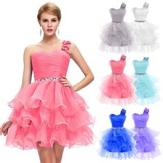 Lady Short Formal Wedding Party Ball Gown Homecoming Bridesmaid Prom Dresses