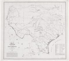 Bureau of Topographical Engineers / Lith. of Ritchie & Dunnovant / Printed by H. F. Walling, Map of TEXAS AND PART OF NEW MEXICO compiled in the Bureau of Topographl. Engrs. chiefly for military purposes, 1857. New York: [U.S. War Department,] 1857.