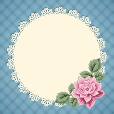 Vintage card with lace doily Watermark Ideas, Happy Birthday Printable, Boarder Designs, Baby Clip Art, Decoupage Vintage, Floral Logo, Borders And Frames, Lace Doilies, Arte Floral