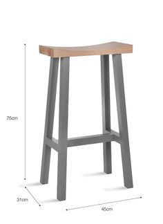 Tall Clockhouse Stool in Charcoal