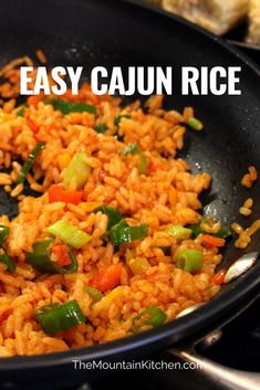 This Easy Cajun Rice is the perfect side dish to any of your Cajun dishes. Turn this side into an entrée by adding Cajun seasoned shrimp to the rice. Yum!