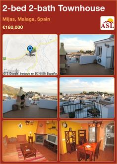 2-bed 2-bath Townhouse in Mijas, Malaga, Spain ►€180,000 #PropertyForSaleInSpain