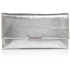Loeffler Randall Tab Metallic Clutch (179.025 CLP) ❤ liked on Polyvore featuring bags, handbags, clutches, accessories, bolsas, metallic purse, convertible handbag, loeffler randall, white clutches and convertible purse
