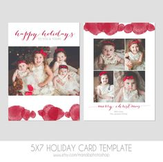 Ein festliches 5 x 7 Foto Card Template. Umfasst front & zurück-Designs! Perfekt für Ihre modernen Kunden! Vorlage Funktionen zeitgenössisches