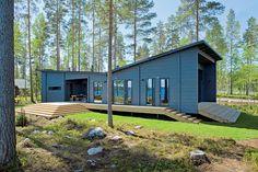 Maison bois scandinave - l'architecte Kari Lappalainen, la décoratrice Hanni Koroma et le fabricant Honka  - Finlande