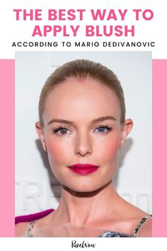 Celebrity makeup artist Mario Dedivanovic shares a blush trick that will lift your features. #makeup #beauty #blush Natural Everyday Makeup, Natural Makeup Looks, Mario Dedivanovic, How To Apply Blush, Dewy Skin, Bold Lips, The Blushed Nudes, Celebrity Makeup, How To Treat Acne