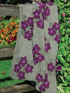 Bunches of Violets - Knitted Afghan. Pattern @ $4.49 from Annie's Epattern-central