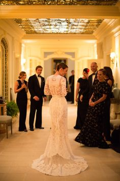 Vanessa Traina in her wedding gown. Riccardo Tisci made the bride\'s dress, which was inspired by the Givenchy Haute Couture archives. Givenchy Wedding Dress, Gorgeous Wedding Dress, Stunning Dresses, Dream Wedding, Wedding App, Bridal Gowns, Wedding Gowns, Lace Wedding, Trendy Wedding
