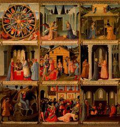 FRA ANGELICO Armario de la plata (1450) Museo de San Marcos, Florencia.