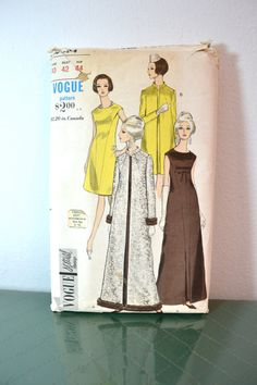 1960s Vintage Plus Size Vogue Pattern 6894 by TabbysVintageShop, $45.00