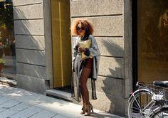 LEATHER Milan Fashion, Gray, Leather, Grey