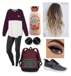 """""""Pink"""" by kaylee-hanover on Polyvore featuring NIKE and Victoria's Secret"""