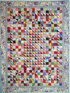 No apology needed: Kaffe Fassett low- contrast quilt by Wanda S. Hanson at Exuberant Color