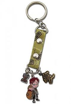 Naruto Key Chain - Gaara with Charms and Strap