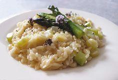 Risotto aux asperges vertes et au thym frais