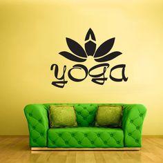 Wall Decal Vinyl Sticker Decals Yoga Flower Lotos Hindu Lettering Quote Sign Z2253 StickersForLife http://www.amazon.com/dp/B00H4AWFFM/ref=cm_sw_r_pi_dp_MkMfvb040HCYH