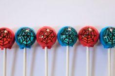 Spiderman super hero lollipops - 6 pc - MADE TO ORDER. $9.00, via Etsy.
