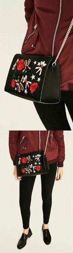 A Black Embroidery Shoulder Bag is now available at $39 from Pasaboho. This Bag exhibit unique design with beautiful embroidered patterns. Available for Wholesale and Retail. Fashion trend and styles from hippie chic, modern vintage, gypsy style, boho chic, hmong ethnic, street style, geometric and floral outfits. We Love boho style and embroidery stitches. Hippie girls with free spirit sharing woman outfit ideas and bohemian clothes, cute dresses and skirts.