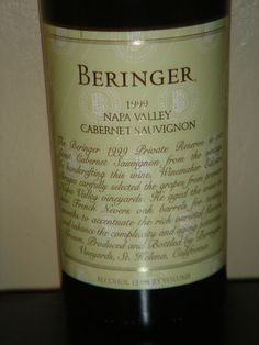 Beringer Private Reserve 1999 Napa Valley Cabernet Sauvignon 750 ML Red Wine #Beringer #Wine The 1999 Beringer Private Reserve is a paradigm for the argument that great wines should not be made by recipe.  1999 hads more completely developed aromas, flavors and tannins than Bancroft Ranch, usually a Private Reserve favorite. The resulting wine has a rich texture, with dense cassis and blackberry fruit charactersitics matched by notes of cedar spice and earth.