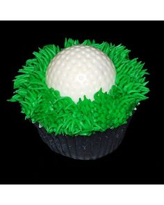 Grand-Prize Winner: Golf Ball Cupcake:Cutest Cupcakes 2008 Contest Winners Simplysweets sent in this grand-prize winning image of a cupcake decorated as a golf ball. Birthday Cakes For Men, New Birthday Cake, Birthday Cards For Her, Birthday Cupcakes, Birthday Ideas, Spa Birthday, Birthday Crafts, Birthday Quotes, Birthday Decorations