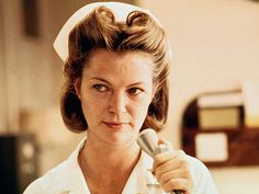 Louise Fletcher - who could forget nurse Ratchet in One Flew Over the Cuckoo's Nest.nurse ratchet/there is at least one in every psych ward. Psych Nurse, Nurse Humor, Medical Humour, Images Of Nurses, Louise Fletcher, Nurse Ratchet, Female Villains, Villain Characters, Fictional Characters