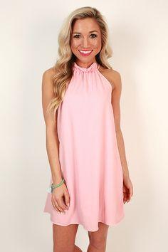 Pretty Prestige Shift Dress in Rose Quartz