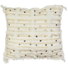 Moroccan Wedding Blanket Pillow, 1970s ($60) ❤ liked on Polyvore featuring home, home decor, throw pillows, pillows, handmade home decor, woven throw pillows, fringed throw pillows, white throw pillows and white toss pillows