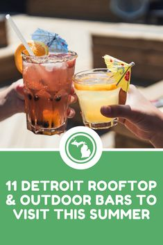 Taste your way through Detroit's 11 best rooftop and outdoor bars this summer to celebrate Michigan's warm weather.