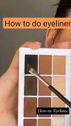 Makeup Inspo, Makeup Tips, Eye Makeup, Hair Makeup, How To Do Eyeliner, Makeup Makeover, Brown Eyeshadow, Eyeliner Tutorial, Facial Care