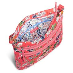 Image of Iconic Triple Zip Hipster in Coral Floral Clutch Pattern, Hipster Bag, Cell Phone Pouch, Diy Face Mask, Handmade Bags, Purses And Bags, Sewing Patterns, Coral, Zip