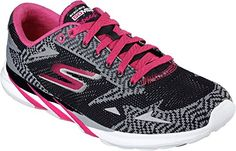 Skechers 14100 Women's Meb Speed 3 - 2016, Black/Pink - 10 * Continue to the product at the image link.