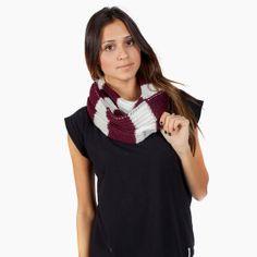 Plum striped scarf - Krochet Kids