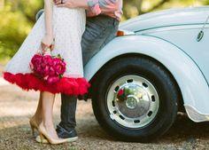 Vintage VW beetle wedding