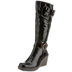 a8a51c4a boots Fly London, Ladies Of London, Black Wedges, Winter Boots, Knee High